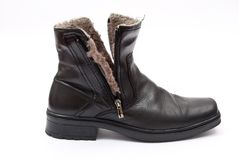 Black winter boot Royalty Free Stock Photo