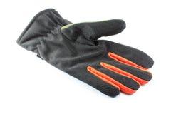 Black winter glove on white Stock Photography