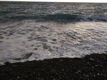 Black winter sea 8. Cold black winter sea. Russia, Sochi stock photos