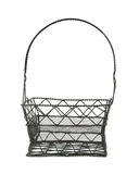 Black wire basket Royalty Free Stock Images