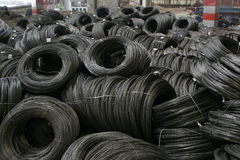 Black wire coils Stock Photography
