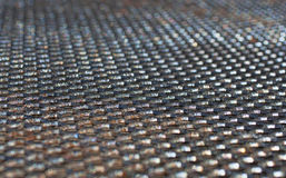 Black wire mesh table top Stock Photography