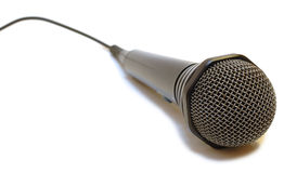 Black Wired Karaoke Microphone. Stock Photography