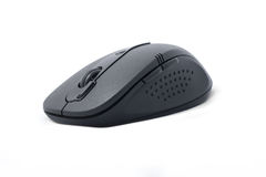 Black wireless computer mouse Royalty Free Stock Photo