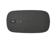 Black wireless computer mouse isolated Royalty Free Stock Images