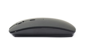 Black wireless computer mouse isolated Royalty Free Stock Photo