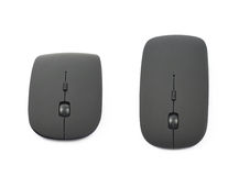 Black wireless computer mouse isolated Royalty Free Stock Photos
