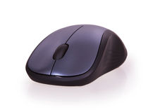 Black wireless computer mouse Royalty Free Stock Photography