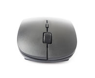 Black wireless computer mouse isolated on white background with Stock Photo