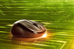 Black wireless computer mouse Royalty Free Stock Image