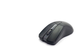 Black Wireless Computer Mouse Stock Photography