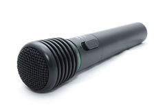 Black wireless microphone Royalty Free Stock Images