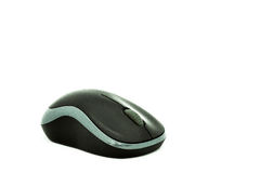 The Black Wireless Mouse Royalty Free Stock Photography