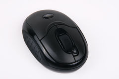 Black wireless mouse Royalty Free Stock Image