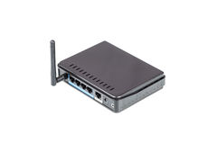 Black Wireless Router Royalty Free Stock Photo