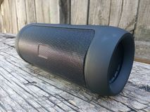 Speaker, isolated, portable, background, black, music, mini, outdoor, speakers, design, modern, technology, s Royalty Free Stock Photography