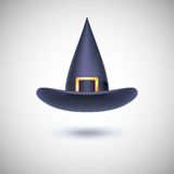 Black witch hat for Halloween. Stock Images