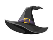 Black witches hat. Royalty Free Stock Image