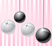 Black and wite balls Royalty Free Stock Photo