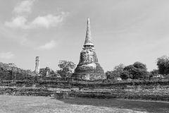 Black and withe ancient pagoda Stock Photo
