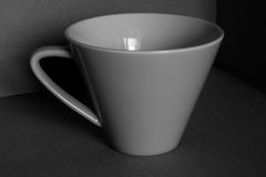 Black and withe cup. Stock Image
