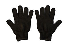 Black Woolen Gloves Stock Photography