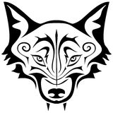 Black Wolf Tattoo Royalty Free Stock Photos