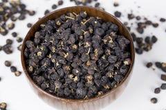 Black wolfberry-- Lycium barbarum closeup Stock Image
