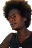 Black woman with afro hair. Face of black woman with natural afro hair style stock images