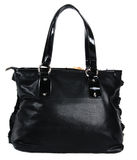 Black woman bag. Photo of many colored isolated bags Stock Images