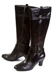 Black woman boot Royalty Free Stock Image