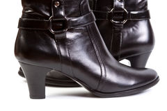 Black woman boot Stock Images