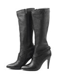 Black woman boots Royalty Free Stock Photography