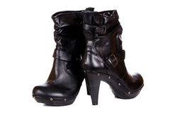 Black woman boots Royalty Free Stock Photo