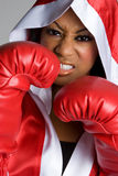 Black Woman Boxing Stock Photography