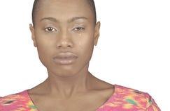 Black woman crying royalty free stock image