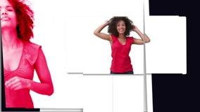 Black woman dancing stock video