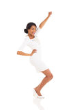 Black woman dancing Royalty Free Stock Photos