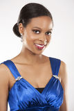 Black woman in evening gown Stock Photos
