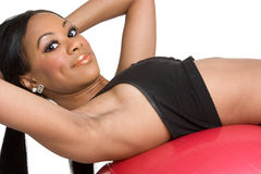 Black Woman Exercising Royalty Free Stock Image