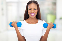 Black woman exercising Stock Images