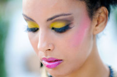 Black woman with fantasy make up Stock Photos