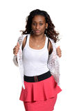 Black woman fashion model Stock Photo