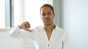 Black Woman Gesture of Thumb Down stock video footage