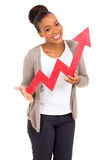 Black woman growth arrow Royalty Free Stock Photos