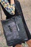 Black woman handbag Stock Photography