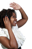 Black Woman with Headphones Royalty Free Stock Photography