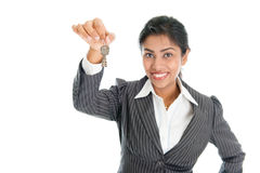 Black woman with house key Stock Photography