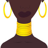 Black woman with jewelries Royalty Free Stock Image