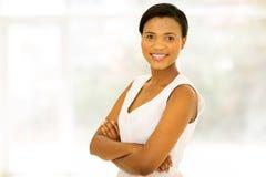 Black woman looking royalty free stock image